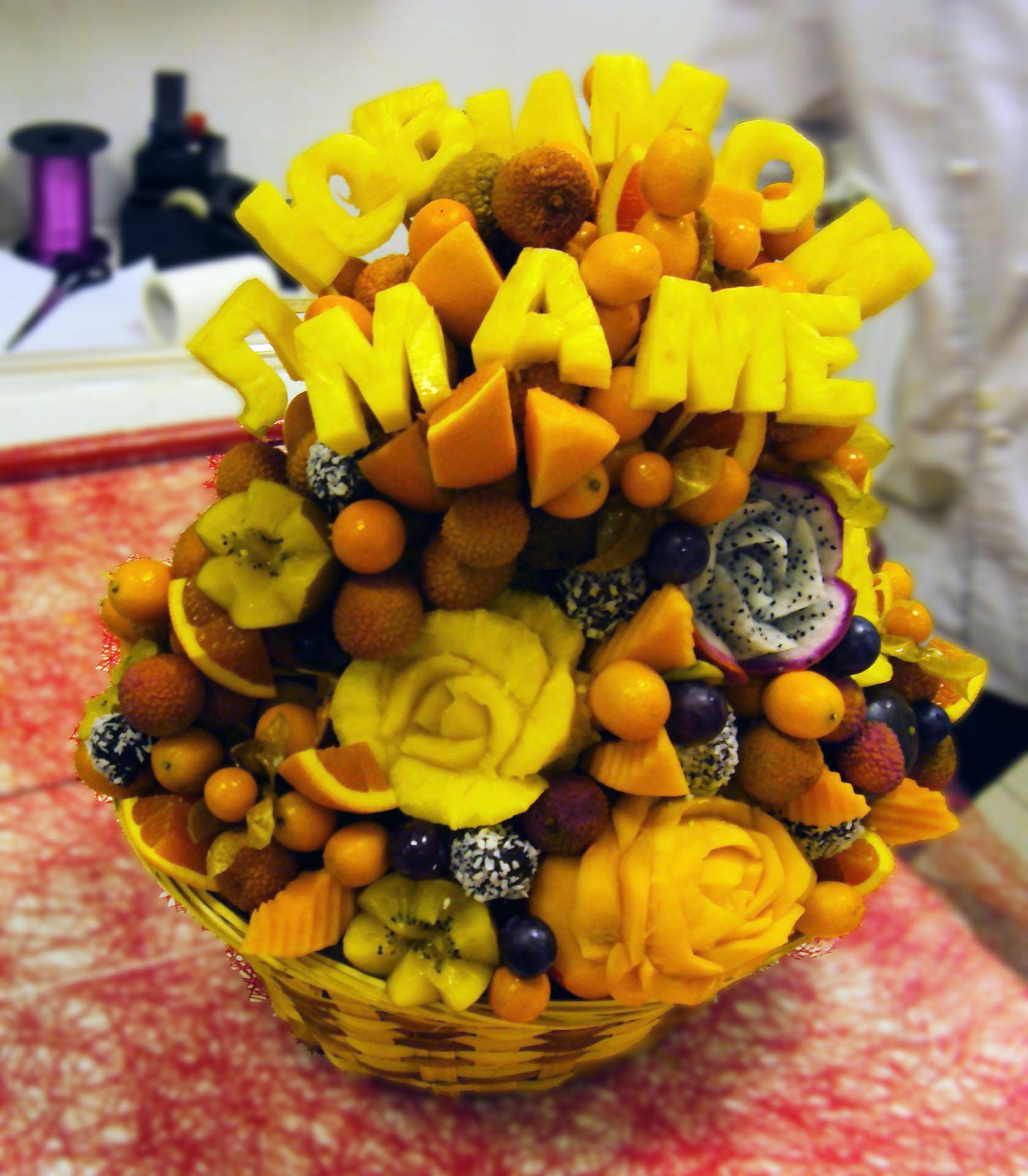 Букеты из фруктов своими руками для начинающих фото 16