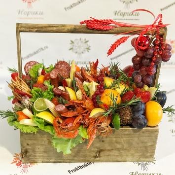 Подарочный ящик для мужчин c колбасой