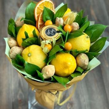 Букет из лимонов и имбиря