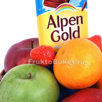 фруктовая корзина с шоколадом