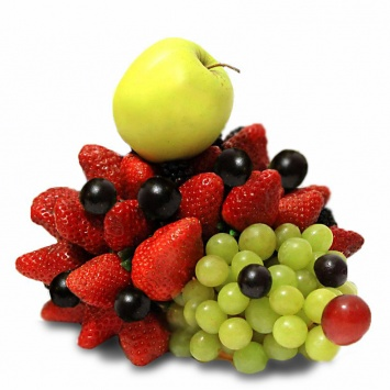 Композиция из фруктов в виде ёжика