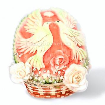 композиция из арбуза голуби