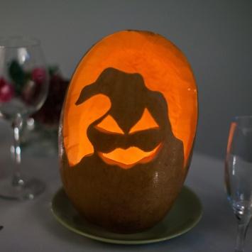 Тыква на Хэллоуин в виде Палача