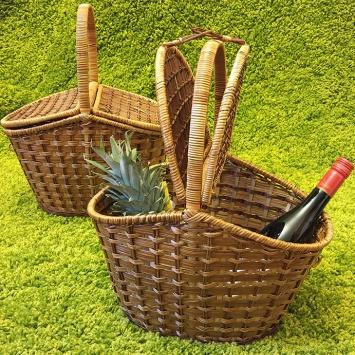 Плетёная корзинка для пикника
