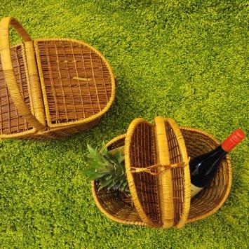 Плетёная корзина для пикника