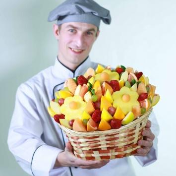 фруктовый букет из ромашек