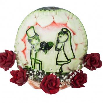 резьба по арбузу для свадьбы