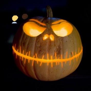 Тыква на Хэллоуин Злобный гнев Джека