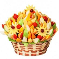Букет из фруктов со звёздами