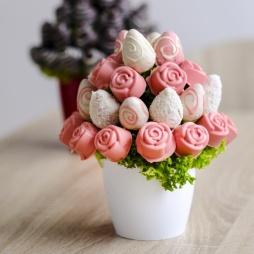 "Фруктовый букет ""Розовый сад"""