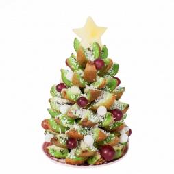 Ёлка из фруктов на Новый Год