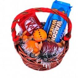 Корзина с шоколадками