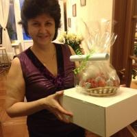 букет из клубники и шоколада