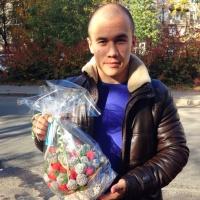 букетик с клубникой и шоколадом