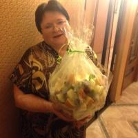 фруктовая корзинка с ленточкой