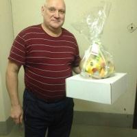 фруктовая корзинка в обёртке