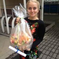 фруктовая корзина и записка