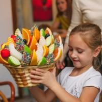 фруктовый букет корзинка