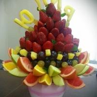 Букет из фруктов с именем Юлия