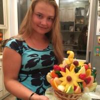 фруктовый букет со звёздочками