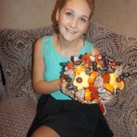 Красивый фруктовый букет