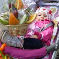 Фруктовый букетик у ребёнка